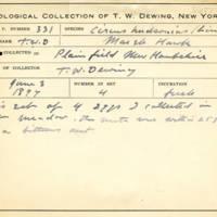 Thomas Wilmer Dewing, egg card # 655u