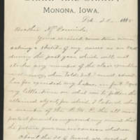 Mila Sharp letters to her brother, February 1885