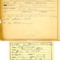 Thomas Wilmer Dewing, egg card # 166