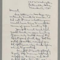 1941-11-13 Laura Davis to Lloyd Davis Page 1