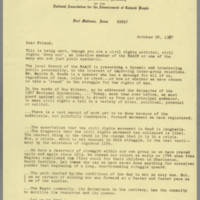 1967-10-24 Letter from NAACP Fort Madison Branch