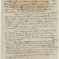 Robert Morriss Browning correspondence to Mabel C. Williams, November-December 1917