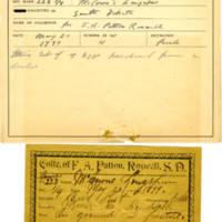 Thomas Wilmer Dewing, egg card # 042