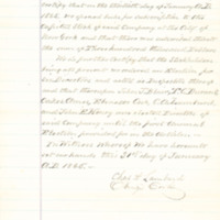 Central Trunk Railroad of Iowa stockholders' agreement, January 1865