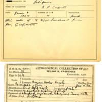 Thomas Wilmer Dewing, egg card # 408