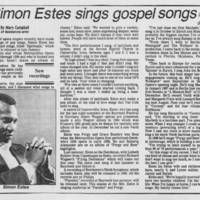 """1986-04-20 """"""""Simon Estes sings gospel songs"""""""""""