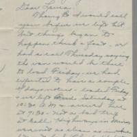 1945-01-28 Alberta Laker to Laura Frances Davis Page 1