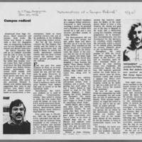 """1972-01-30 New York Times Magazine Article: """"""""Metamorphosis Of A Campus Radical"""""""" Page 7"""