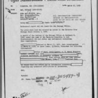 1952-03-25 Special Agent in Charge, Chicago Field Office to Director, FBI regarding Edna May Griffin