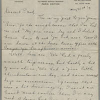 1919-05-31 Daphne Reynolds to Mary Goodenough Page 1