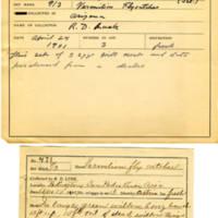 Thomas Wilmer Dewing, egg card # 372