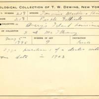 Thomas Wilmer Dewing, egg card # 160