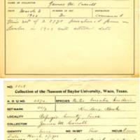 Thomas Wilmer Dewing, egg card # 221