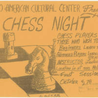 1978-10-04 Afro American Cultural Center Presents Chess Night
