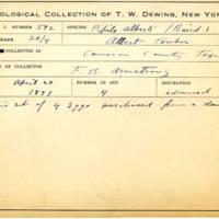 Thomas Wilmer Dewing, egg card # 478