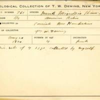 Thomas Wilmer Dewing, egg card # 838u