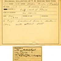 Thomas Wilmer Dewing, egg card # 145