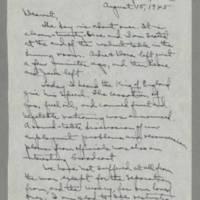 1945-08-15 Laura Davis to Lloyd Davis Page 1