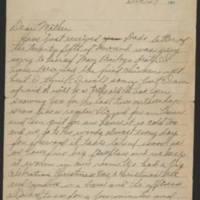 1917-12-27 Harvey Wertz to Mrs. L.A. Wertz Page 1