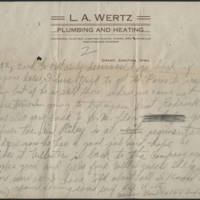 1918-10-06 Harvey Wertz to Mr. L.A. Wertz Page 3
