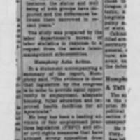 """1952-11-22 Des Moines Register Article: """"Report Shows Negro Status"""""""