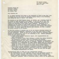 1971-06-17 Correspondence to Governor Robert Ray Page 1
