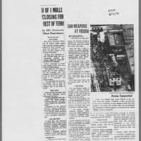 "1970-05-10 Des Moines Register Article:  """"U of I Mulls Closing For Rest Of Term"""""