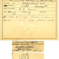 Thomas Wilmer Dewing, egg card # 257