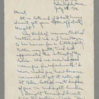 1942-07-28 Laura Davis to Lloyd Davis Page 1