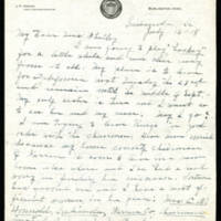 1918-07-16 Letter to Mrs. Whitley Page 1