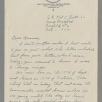 Laura Davis assorted letters, October-December 1942