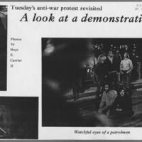 """1972-05-11 Daily Iowan Article: """"""""A look at a demonstration"""""""" Page 5"""