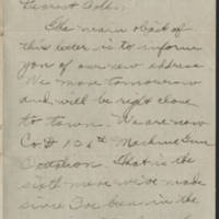 Thomas W. Messenger correspondence, January-May 1918