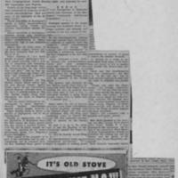 "Burlington Hawkeye Gazette Article: ""Burlington Self-Survey Committee Lists Findings"""