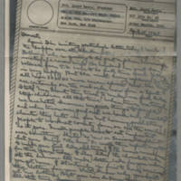 1943-04-15 Laura Davis to Lloyd Davis Page 1