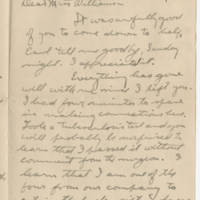 Robert Morriss Browning correspondence to Mabel C. Williams, August-September 1917