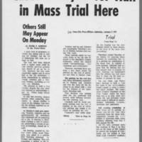 "1971-01-02 Iowa City Press-Citizen Article: """"Cases Delayed for Half in Mass Trial Here"""""