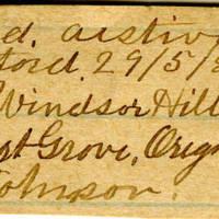 Clinton Mellen Jones, egg card # 328