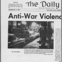 "1971-06-06 Daily Iowan Article: """"Anti-War Violence Strikes City"""" Page 1"