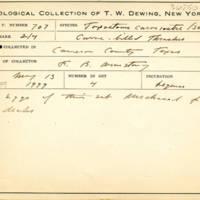 Thomas Wilmer Dewing, egg card # 813u