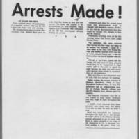 """1970-05-08 Daily Iowan Article: """"""""Arrests Made!"""""""" Page 1"""