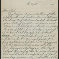 1917-09-21 Harvey Wertz to Mr. L.A. Wertz Page 1