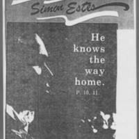 "1980-11-29 Diversions: """"Simon Estes, He knows the way home."""" Page 1"