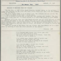 1968-01-18 Newsletter, Fort Madison Branch of the NAACP Page 1