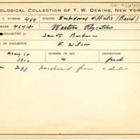 Thomas Wilmer Dewing, egg card # 363