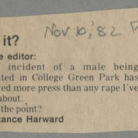 "1982-11-10 To the Editor: ""Get It?"""