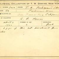 Thomas Wilmer Dewing, egg card # 819u