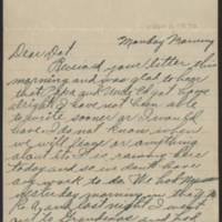 1917-09-03 Harvey Wertz to Miss Dorothy Wertz Page 1