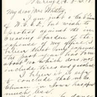 1918-08-13 Mrs. Frank Cook to Mrs. Whitley Page 1