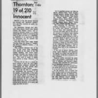 "1971-01-09 Daily Iowan Article: """"Thornton: 19 of 210 Innocent"""""